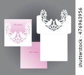 decorative bird. the envelope.... | Shutterstock .eps vector #476963956