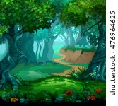forest of magic. moving trees.... | Shutterstock .eps vector #476964625