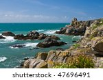 wildcoast of ile d'yeu in france   Shutterstock . vector #47696491