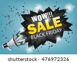 black friday sale message... | Shutterstock .eps vector #476972326