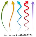 set of 5 different arrows.... | Shutterstock .eps vector #476987176