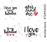 happy valentines day   Shutterstock .eps vector #476993452