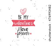 happy valentines day | Shutterstock .eps vector #476993482