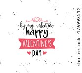 happy valentines day | Shutterstock .eps vector #476993512