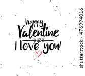 happy valentines day | Shutterstock .eps vector #476994016