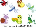 set insect | Shutterstock .eps vector #476999056