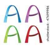 """letter """"a""""   Shutterstock .eps vector #47699986"""