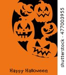 happy halloween card design....   Shutterstock .eps vector #477003955