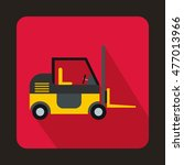 stacker loader icon in flat... | Shutterstock . vector #477013966