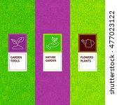 Line Garden Flowers Patterns...