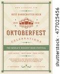 oktoberfest beer festival... | Shutterstock .eps vector #477025456