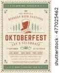 oktoberfest beer festival... | Shutterstock .eps vector #477025462