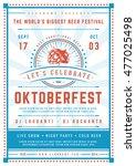 oktoberfest beer festival... | Shutterstock .eps vector #477025498