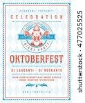oktoberfest beer festival... | Shutterstock .eps vector #477025525
