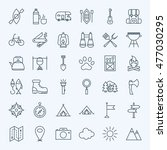 line camping icons. vector... | Shutterstock .eps vector #477030295