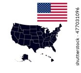 set of us states in the map of... | Shutterstock .eps vector #477031096