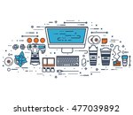 photographer equipment on a... | Shutterstock . vector #477039892