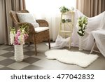 beautiful decorated interior... | Shutterstock . vector #477042832