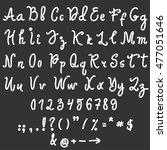vector alphabet. hand drawn... | Shutterstock .eps vector #477051646