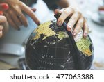globe world map travel explore... | Shutterstock . vector #477063388