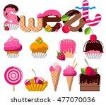 sweets  dessert  candy. vector... | Shutterstock .eps vector #477070036