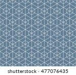 seamless light blue hexagonal... | Shutterstock . vector #477076435
