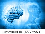 abstract design with the brain  ... | Shutterstock . vector #477079336