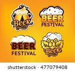 beer logo label vector... | Shutterstock .eps vector #477079408