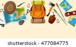 travel and tourism. flat style. ... | Shutterstock . vector #477084775
