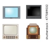 retro tv screen lcd monitor... | Shutterstock .eps vector #477089032