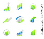 set of finance chart bar logo... | Shutterstock .eps vector #477098512