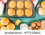 baking fresh homemade dinner... | Shutterstock . vector #477110662