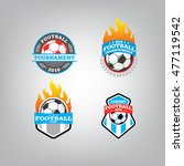 soccer logo design template set ... | Shutterstock .eps vector #477119542