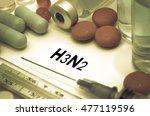 h3n2  influenza  grippe .... | Shutterstock . vector #477119596