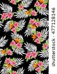 fabric print design | Shutterstock . vector #477128146