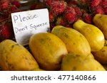 tropical island papaya and... | Shutterstock . vector #477140866