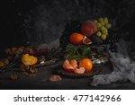still life. fruits in a...