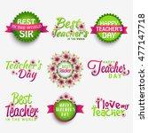 creative badge label or stylish ... | Shutterstock .eps vector #477147718