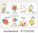creative card set poster set or ... | Shutterstock .eps vector #477153142