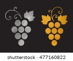 set of silver and gold textured ... | Shutterstock .eps vector #477160822