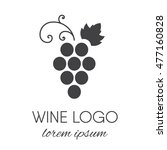 stylized grapes logo. wine or... | Shutterstock .eps vector #477160828