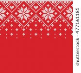 norway festive sweater fairisle ... | Shutterstock .eps vector #477161185