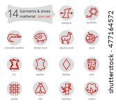 vector line icons of fabric... | Shutterstock .eps vector #477164572