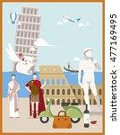Italy Poster Landmark Travel...