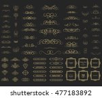 vintage set exclusive borders... | Shutterstock . vector #477183892