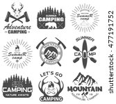 set of camping equipment... | Shutterstock . vector #477191752
