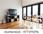 modern apartment living room... | Shutterstock . vector #477194296