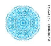 beautiful vector mandala.ocean... | Shutterstock .eps vector #477194416