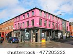 Small photo of MANCHESTER, UK - AUGUST 30, 2016: Commercial buildings in the Northern Quarter. The Northern Quarter is an invention of the 1990's as part of the regeneration and gentrification of Manchester.