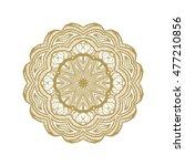 islamic gold on dark background.... | Shutterstock .eps vector #477210856